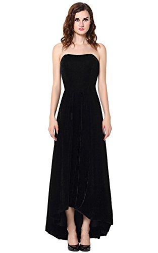 Velvet Strapless Gown - 2