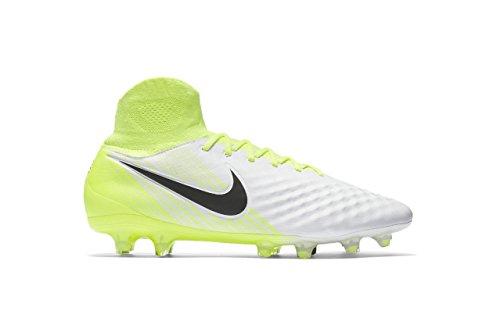 Nike Mens Magista Orden Ii Fg Bianco / Nero / Volt / Scarpe Da Calcio Grigio Lupo - 11.5a