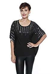 Sleeve Top with Sequin