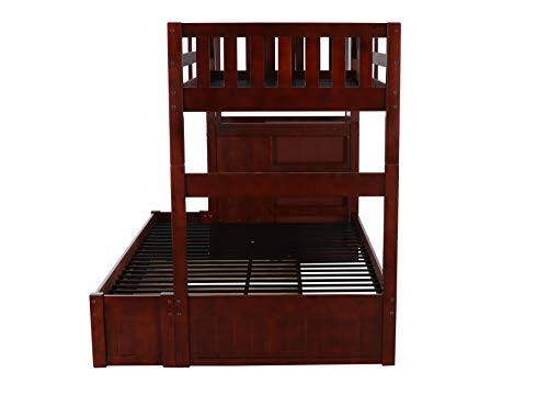home, kitchen, furniture, bedroom furniture, beds, frames, bases,  beds 4 picture Discovery World Furniture Mission Twin Over Full Staircase deals
