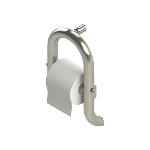 Invisia Wall Toilet Roll Holder-Brushed Stainless Steel Finish by Invisia