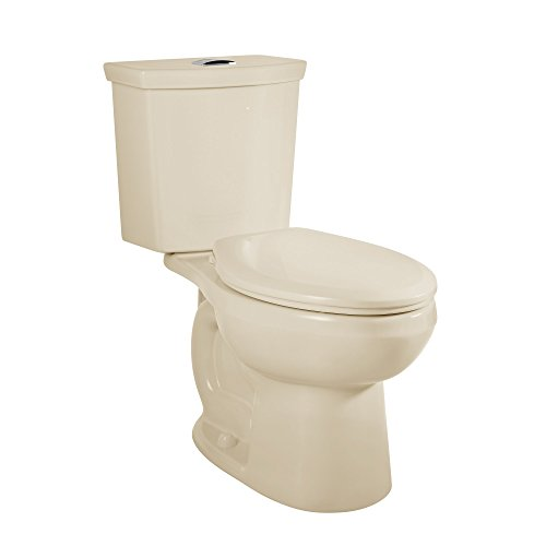 American Standard 2886518.021 H2Option Siphonic Dual Flush Right Height Elongated Toilet with Liner, Bone, 2-Piece