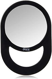 Diane Espelho com alça – Espelho portátil com alça circular para pendurar – Tamanho médio (28 x 19 cm) para vi