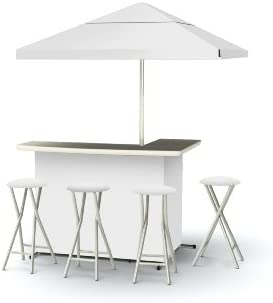 Best of Times Patio Bar and Tailgating Center Deluxe Package- Solid White