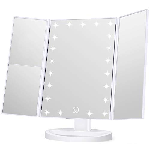 KOOLORBS Makeup 21 Led Vanity Mirror with Lights, 1x 2x 3x Magnification, -