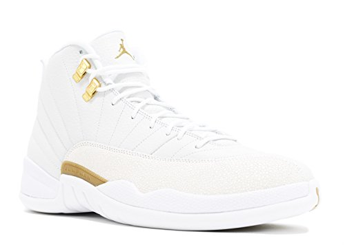 Donna da Metallic Jordan Basket Ovo Scarpe Uomo Retro 12 White Air Gold qXwg8PAPW