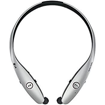 LG Electronics TONE INFINIM Bluetooth Stereo Retractable Headset HBS-900 Silver