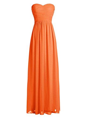 Dressystar Robe de demoiselle d'honneur/de soirée longue formelle Taille 38 Orange