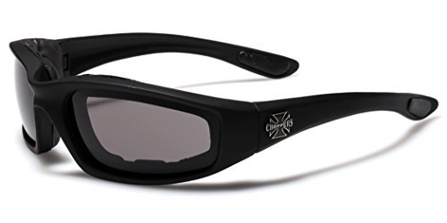 Choppers Padded Sport Sunglasses - Black, White, Silver or Pink Frame / Mirror, HD, Yellow, Dark, Fire or Ice Lens
