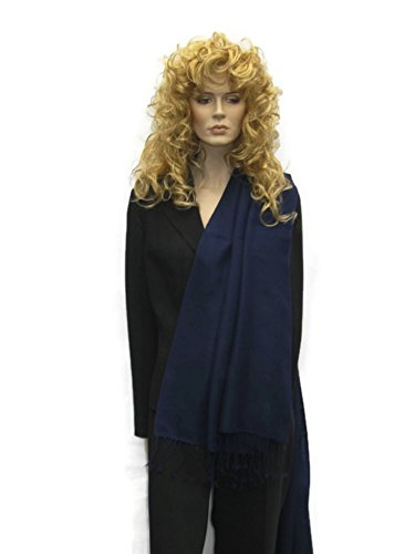 Scarf/Shawl/Wrap/Stole/Pashmina Shawl in solid color from Cashmere Pashmina Group (Regular Size) - Inky Navy