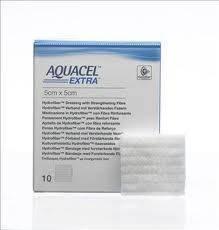 """AQUACEL EXTRA Hydrofiber Dressing, 2"""" x 2"""", Box of 10"""