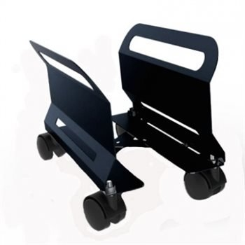 PENN ELCOM Ajustable PC Carrito Negro con Swivel/Ruedas de Freno cpu-23b: Amazon.es: Electrónica