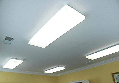 FaithSail 60W LED Wraparound Light 4FT LED Office Lights, 6600 Lumens 4000K, 4 Foot Flush Mount LED Wrap Shop Puff Ceiling Lighting Fixtures for Garage Workshop, Fluorescent Light Replacement, 4 Pack by FAITHSAIL (Image #4)