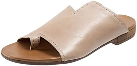 Womens Sandal Summer Flats Thong Flip Flop Pinch Sandals Fashion Flat-Bottomed Roman Shoes Beach Shoes