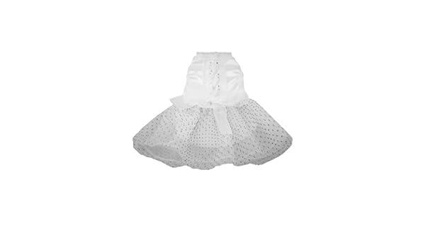 Amazon.com : Perro de mascota Poli del Spot y vestido de encaje con diamantes de imitación, Vestido de novia, XX-Small, White : Pet Supplies