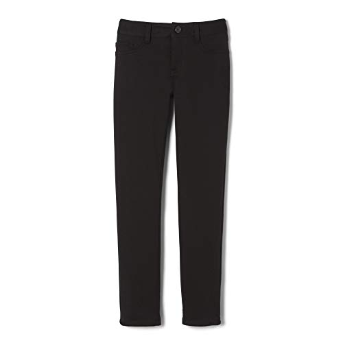 French Toast Little Girls' Skinny 5 Pocket Knit Pant, Black, ()