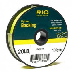Rio Fly Fishing Backing Dacron 20Lb 100 yd. Fly Tying Equipment, Chartreuse ()