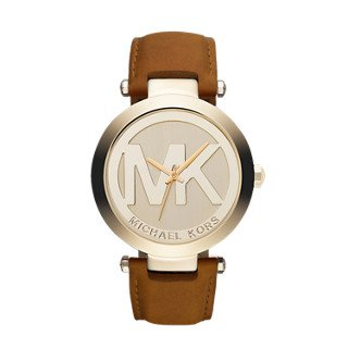Michael Kors Gold-Tone Leather Women's Watch