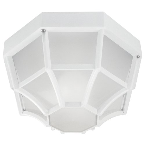 Sunlite 47240-SU DOD/OC/WH/FR/MED Decorative Outdoor Octagonal Collection Polycarbonate Fixture, White Finish, Frosted Lens (Sunlites Collection)