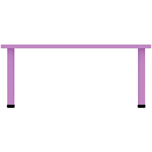 """2xhome - Purple - Kids Table - Height Adjustable 18.25'' - 19.25'' Rectangle Shape Child Plastic Activity Table Bright Color Learn Play School Home Fun Children Furniture Round Safety Corner 24""""x48'' by 2xhome (Image #2)"""