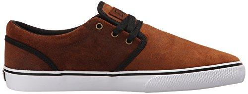 Zapatillas Fallen: The Easy Shoes Black/Acid/Island Blue BK/GR Marrón - marrón/negro