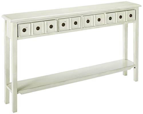 (Powell's Furniture 16A8213C Sadie Cream Long Storage Console Table, Multicolor)
