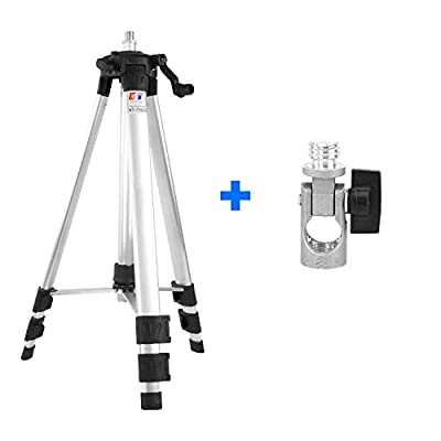 Dingchao 55.7 inch Tripod for Laser Levels,with 5/8 inch Connector,Adjustable legs,6063 Aluminum Materials Stand for Line Laser Tools