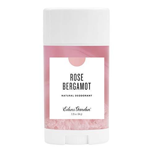 Edens Garden Rose Bergamot Natural Deodorant, Aluminum & Baking Soda Free (For Normal & Sensitive Skin), Made With Essential Oils, Vegan, For Men & Women, 2.25 oz