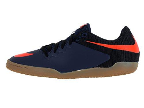 Nike Mens Scarpa Da Calcio Professionale Hypervenomx Mid Navy / Arancio Totale / Nero / Gomma