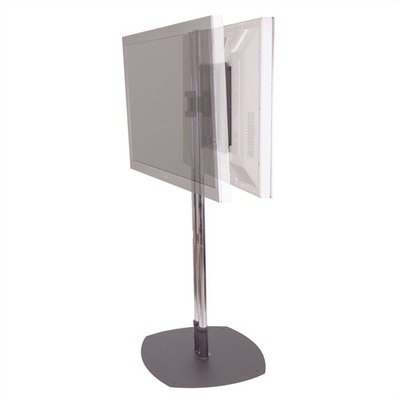 Premier Mounts PSD-CS60 Mounts Dual Pole Floor Stand - Up to 320lb - Up to 61 inch Plasma Display - Chrome, Dark ()