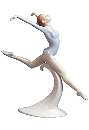 : Unbekannt 26 cm Porzellan Figur Ballerina