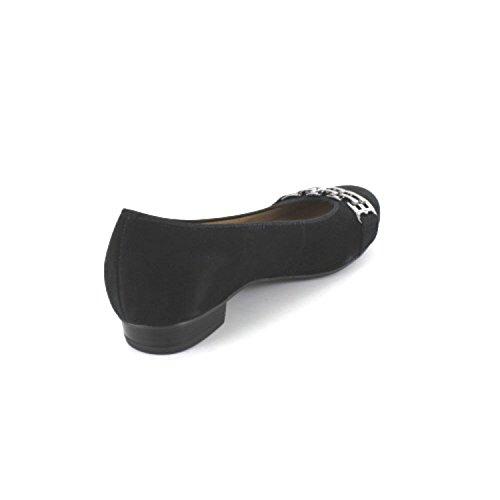 ara Women's Bari Closed Toe Ballet Flats Black hg33axn