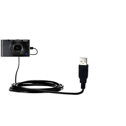 Classic-Straight-USB-Cable-suitable-for-the-Sony-Cybershot-DSC-RX100-with-Power-Hot-Sync-and-Charge-Capabilities-Uses-Gomadic-TipExchange-Technology