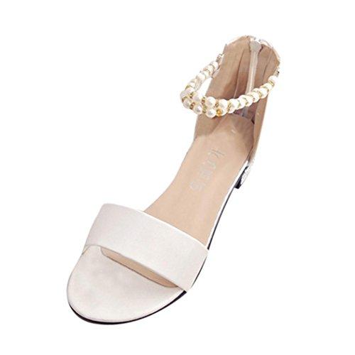 85 Dames Flat Perles Sandales Bohème Shoes Hcfkj off Femmes String MUqzVpS