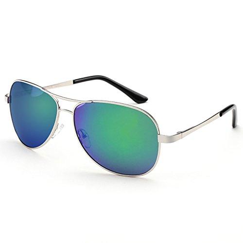 Aviador de Gafas 2 UV400 Ligero Sol Metal Hombre 6 Deportes SunglassesMAN Peso Color polarizado protección de Marco Yxsd 5APgywqxY