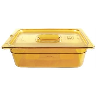 RCP225PAMB - Rubbermaid-Amber Food Pans; 1/2 Size