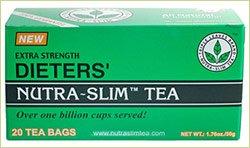 Diète supplémentaires de force de Nutra-Slim Tea Leaves Triple marque - 20 Sachets