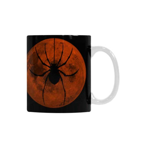 Best Gift Mug - Halloween Scary Spider Moon Night Motivational Inspired Quotes White Mug Coffee/Tea Cup All Over Printed -