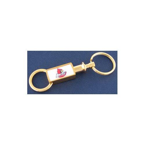 NCAA University of Louisville Gold Tone Valet Keychain -