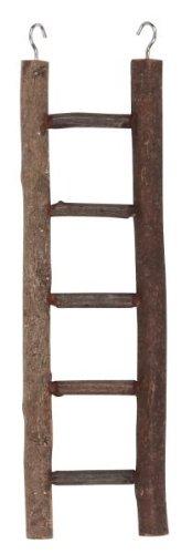 Wood Ships Ladder - Kerbl Ladder 5 Steps Natural Wood, 26 cm