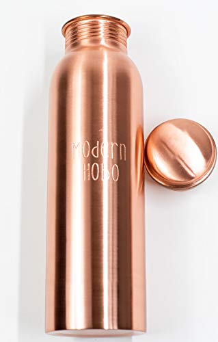 Modern Hobo 30oz Pure Copper Bottle of Water, Handmade in India (Best Water Bottle Brand In India)