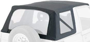(Rampage Jeep 98635 Soft Top, OEM Replacement, 1986-1994 Suzuki Samurai, Black Diamond with Tinted Windows by RAMPAGE PRODUCTS)