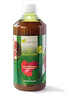 Green Frog Jugo de Aloe Vera Con Granada BIO 1 Litro