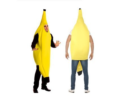 Smile-Life 全身 バナナ マン ハロウィン コスプレ 着ぐるみ バナナ バナナスーツ イベント パーティー 舞台 余興 学園祭 販促 コスチューム 衣装 仮装 黄色 イエロー Halloween banana 果物 メンズ レディース 男女兼用 大人用