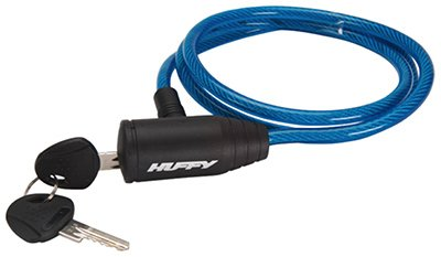 Huffy Bicycles 00233LK Bicycle Lock, Cable, Blue Translucent - Quantity 3
