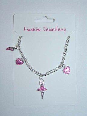 Enamel Ballerina Charm (Girls Pink Enamel Ballerina Charm Bracelet)