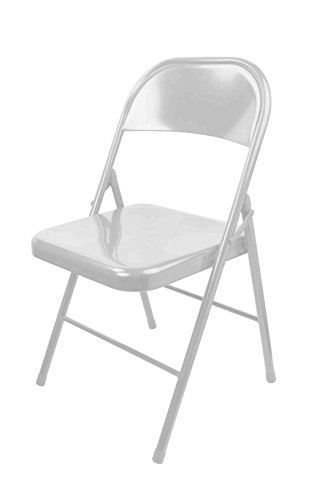 Home Basics FC49642 Heavy Duty Metal Folding Chair, Off White
