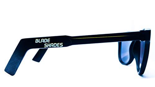 (Blade Shades Goalie Glasses Hockey Stick Sport Sunglasses UV Protective (Black/Yellow, Yellow)