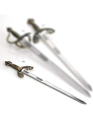 Espada TIZONA PEQUEÑA GRABADA para cortar tarta novios boda o comunión SIN FILO espadas cid