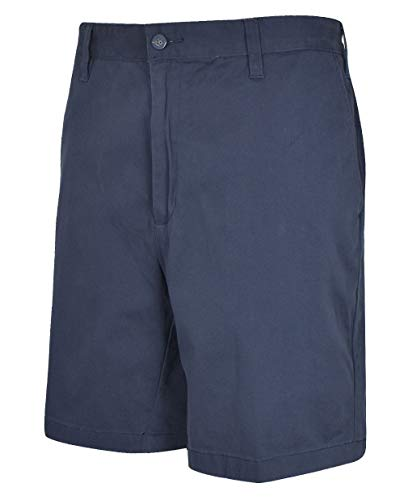 Nautica Men's Classic Fit Flat Front Stretch Solid Chino Deck Short, True Navy, 38W